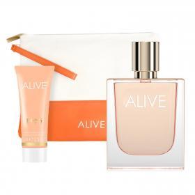BOSS Alive Eau De Parfum 50ml & gratis Pouch + Body Lotion (Reisegrösse)