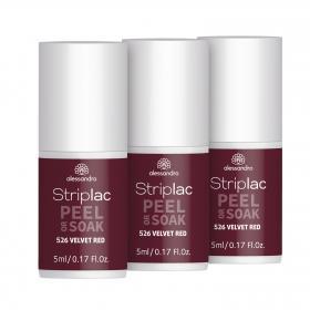 Striplac Peel or Soak 526 Velvet Red Vorteilspack 3x 5ml