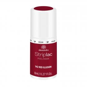 Striplac Peel or Soak 142 Red Illusion
