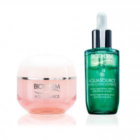 Aquasource Creme für trockene Haut & Aquasource Aura Leaf Concentrate