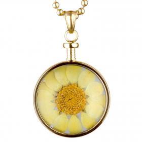 blumenkind Anhänger gold / Blüte gelb
