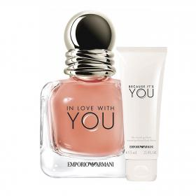 EMPORIO In Love With You Intense EDP 100ml & gratis Body Lotion (Reisegrösse)