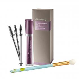 M2 BEAUTÉ 3 Looks Black Nano Mascara & gratis Lidschattenpinsel
